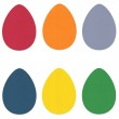 Felt Easter Eggs Set 2 — Stock Photo #9667557