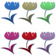 Stock Photo: Tulips Set #3