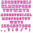 Pink Block Letters & Numbers — Foto Stock