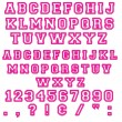 Pink Block Letters & Numbers — Stockfoto