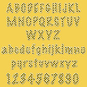 Yellow Polka-Dot ABC's & 123's — Stock Photo