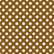 Brown & White Polkadot Paper — Stock Photo