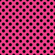 Hot Pink & Black Polkadot Paper — Stock Photo