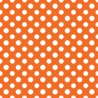 Orange & White Polkadot Paper — Stock Photo