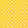Yellow & White Polkadot Paper — Stock Photo