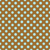 Brown & Light Blue Polkadot Paper — Stock Photo