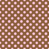 Brown & Light Pink Polkadot Paper — Stock Photo