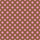 Brown & Pink Polkadot Paper — Stock Photo