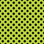 Lime & Black Polkadot Paper — Stock Photo