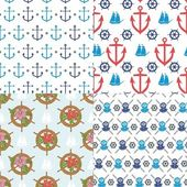 Seamless marine pattern — Stock Vector
