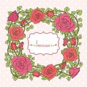 Vintage style background with flowers — Stock Vector