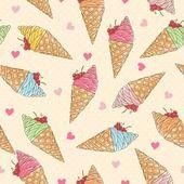 Coloridos patrones sin fisuras del helado — Vector de stock