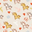 Horse seamless pattern — Stock Vector #9504845
