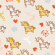 Horse seamless pattern — Stock Vector
