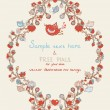 Royalty-Free Stock Vector Image: Vintage template with hearts and birds
