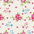 Seamless peony wallpaper pattern. Vector background — Stock Vector