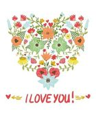 Floral heart. Heart made of flowers — Stock Vector