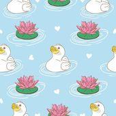 Ducklings - seamless pattern — Stock Vector