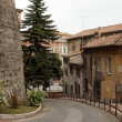 View of a street near the center of the city of Perugia — Stock Photo