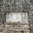 View of a fountain near of the city of Perugia — Stock Photo