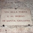 Sign in the center of the city of Perugia — Stock Photo
