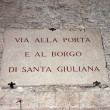 Sign in the center of the city of Perugia — Stock Photo #10389482