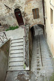 View of a steep staircase in the city of Perugia — Stock Photo