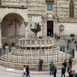 Stock Photo: Famous fountains in square in center of Perugia, Italy