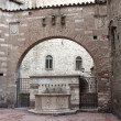 Foto Stock: Famous fountains in center of Perugia