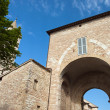 Stock Photo: View of the access door to the town of Assisi