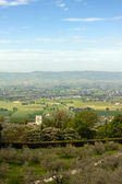 Panoramic view of the countryside around Assisi — Stock Photo