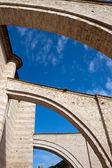 Arcos laterais da igreja em assis — Foto Stock