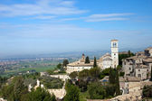 Panoramic view of the church in Assisi — Stock Photo