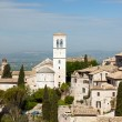 Panoramic view of the church in Assisi — Stock Photo #10470560