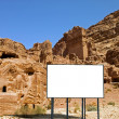 Billboard in the desert — Stock Photo