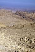 Rocky desert of southern Jordan in Asia — Stok fotoğraf