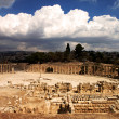 Oval Plaza in Jerash, Jordan - Stock Photo