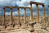 Oval Plaza in Jerash, Jordan — Stock Photo
