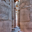 Columns of Karnak temple in hdr - Stock Photo