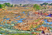 Tsavo-fluss in hdr — Stockfoto