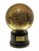Golden Ball, best player in the world — Stock Photo