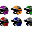 Illustration of six baseball cap, helmet — Stock Photo