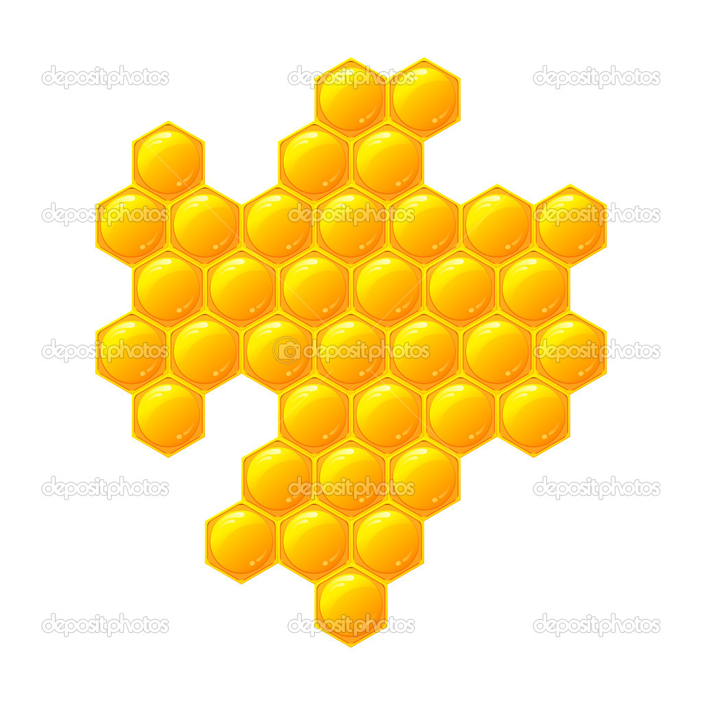 Honeycomb, isolated on the white — Stock Photo #10270402