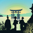 Stock Photo: Attractions of Japan