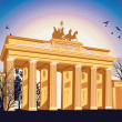 Brandenburg gate — Stock Photo