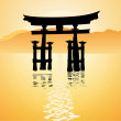 Heritage shrine in Miyajima, Japan — Stock Photo