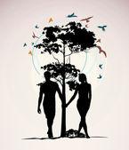 мужчина и женщина, взявшись за руки — Стоковое фото