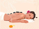 Spa therapy — Stock Vector