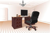 Workplace in room — Stock Vector