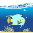 Beautiful fish underwater — Stock Vector